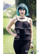 NECESSARY EVIL Lucina Gothic Layered Mesh Top | Ladies Gothic Clothing